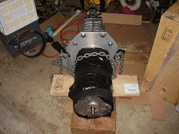 EV conversion motor coupled to transmission