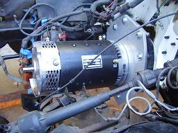 EV conversion motor installed from left